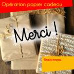 Opération papier cadeaux